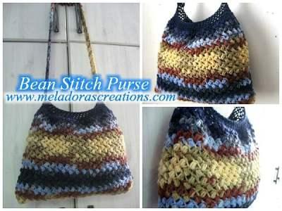 Bean Stitch Bag by Meladora's Creations