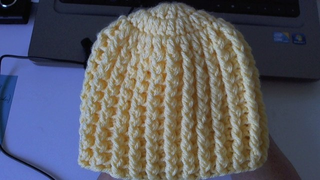 Adult Crochet Beanie Pattern How To Crochet Easy Ribbed Beanie Hat Style 1 Youtube