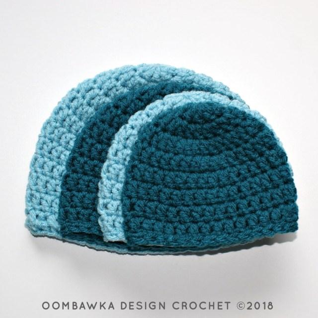 Adult Crochet Beanie Pattern Simple Double Crochet Hat Pattern Oombawka Design Crochet