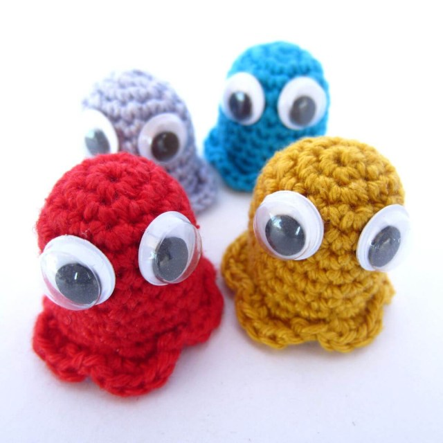 Amigurumi Crochet Patterns Amigurumi Crochet Pac Man Ghosts Supergurumi