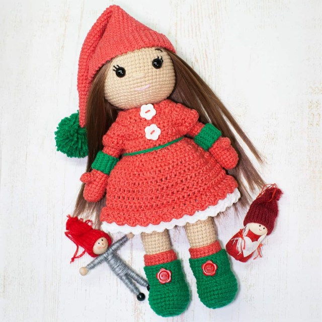 Amigurumi Doll Crochet Pattern Christmas Doll Crochet Pattern Amigurumi Today