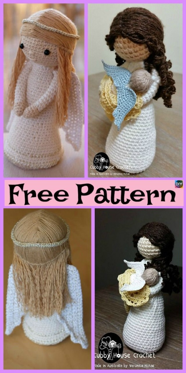 Amigurumi Doll Crochet Pattern Crochet Amigurumi Doll Angel Free Patterns Christmas Halloween