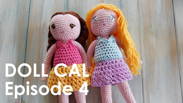 Amigurumi Doll Crochet Pattern Crochet Amigurumi Doll Cal Ep4 Dress Youtube