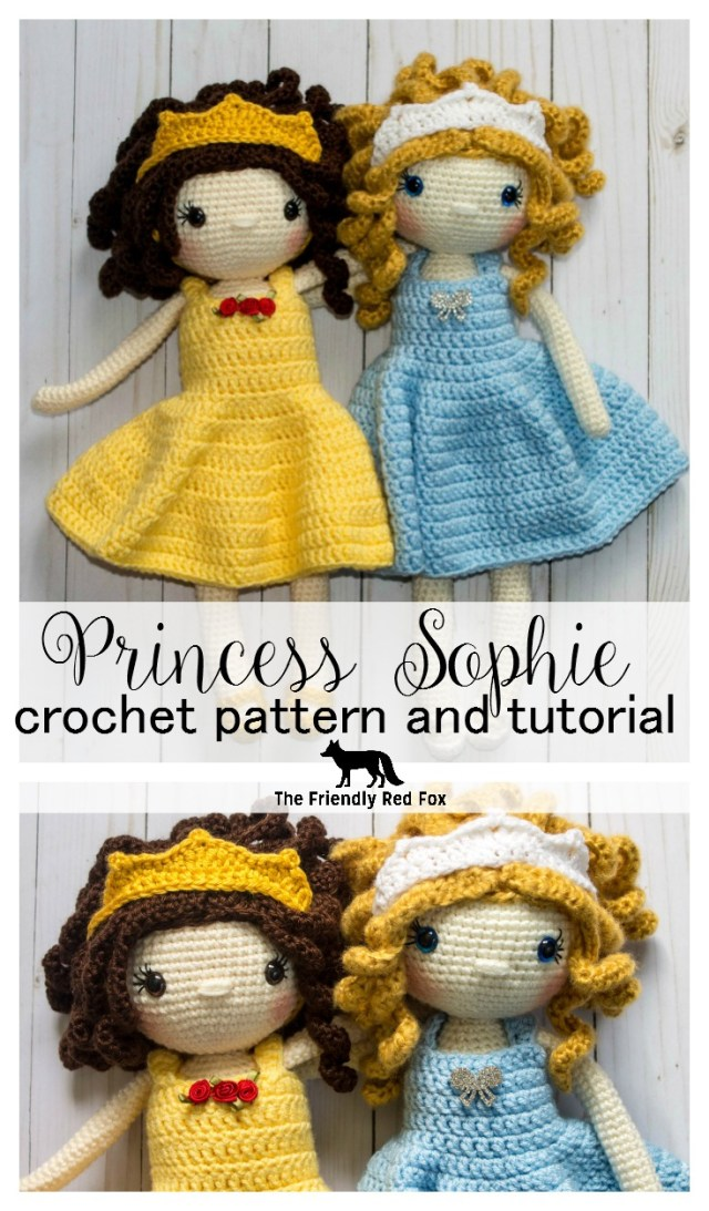 Amigurumi Doll Crochet Pattern Free Crochet Doll Pattern The Friendly Sophie Thefriendlyredfox