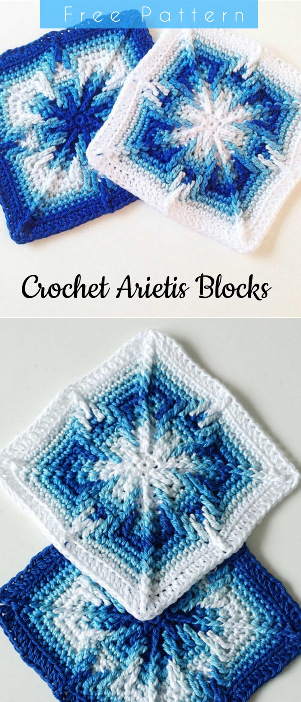 Apache Tears Crochet Pattern The Arietis Crochet Apache Tears Squares Free Pattern Styles Idea