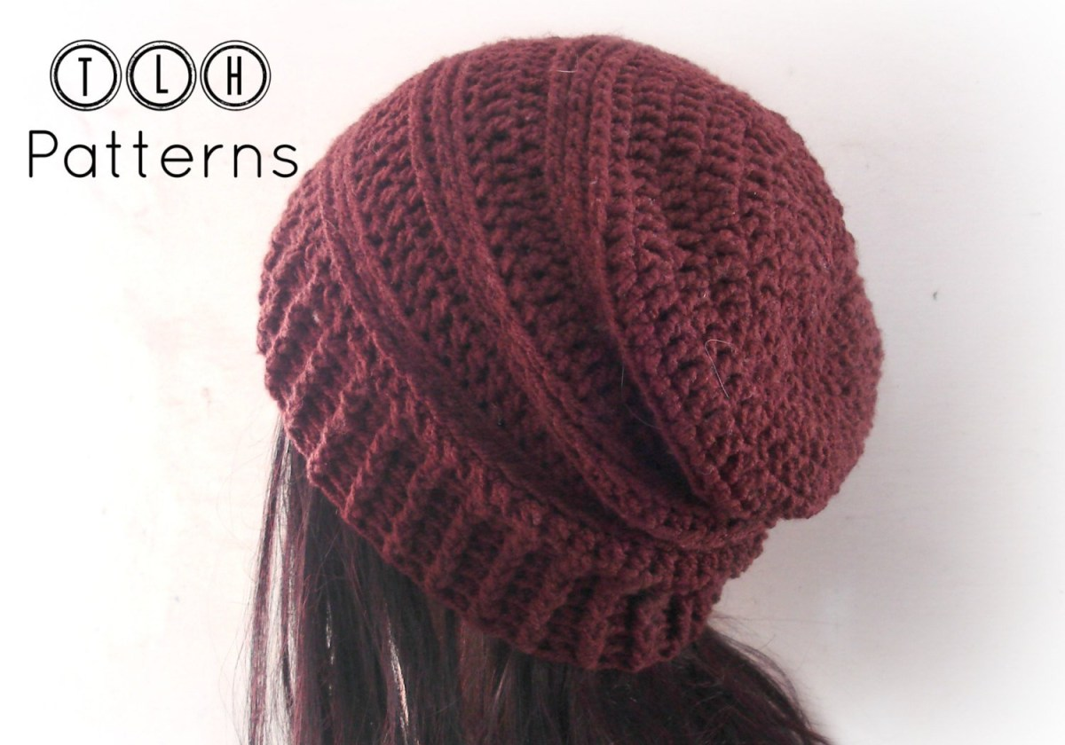 Beanie Pattern Crochet Crochet Pattern Slouchy Hat Pattern Crochet Slouchy Beanie Etsy
