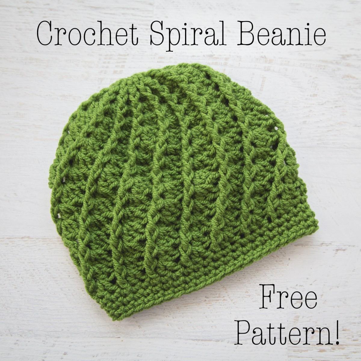 Beanie Pattern Crochet Crochet Spiral Beanie Free Crochet Pattern Loganberry Handmade