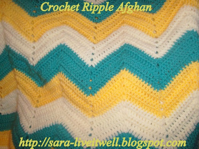 Chevron Zig Zag Crochet Pattern Live It Well Crochet Ripple Afghan