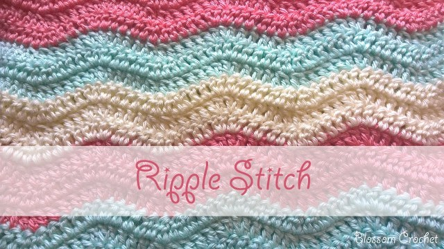 Chevron Zig Zag Crochet Pattern Simple Ripple Stitch Crochet Tutorial Youtube