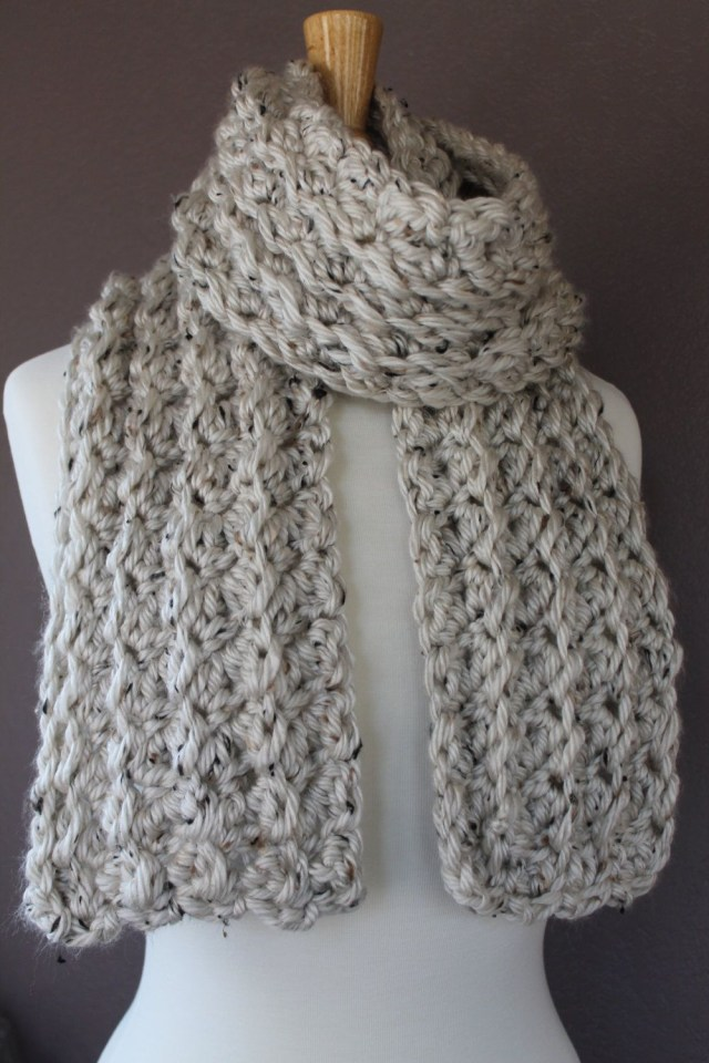 Chunky Crochet Scarf Pattern Come And Check Out This Very Easy Crochet Scarf Pattern From Crafty