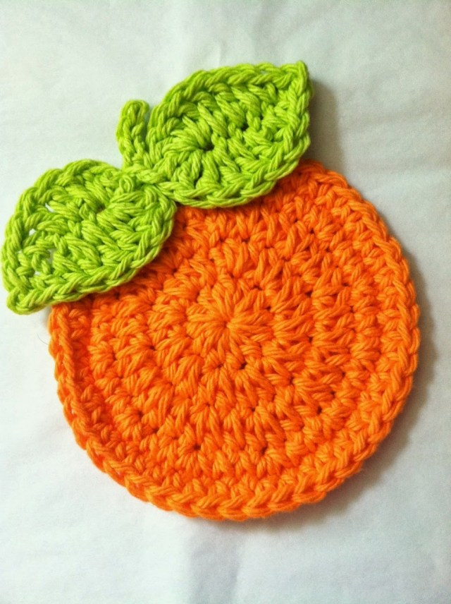 Coaster Crochet Pattern Lakeview Cottage Kids Free Pattern For Oranges Crochet Coaster Set