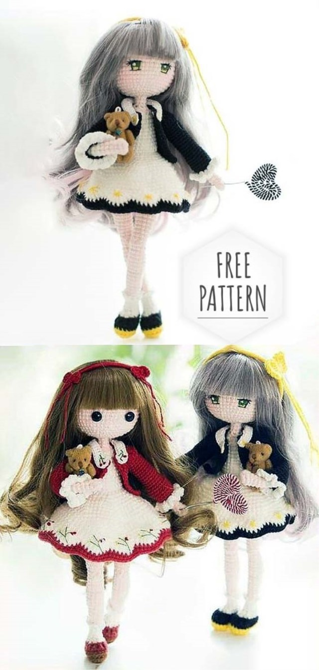 37+ Free Amigurumi Crochet Doll Pattern and Design ideas - Page 8 ... | 1342x640