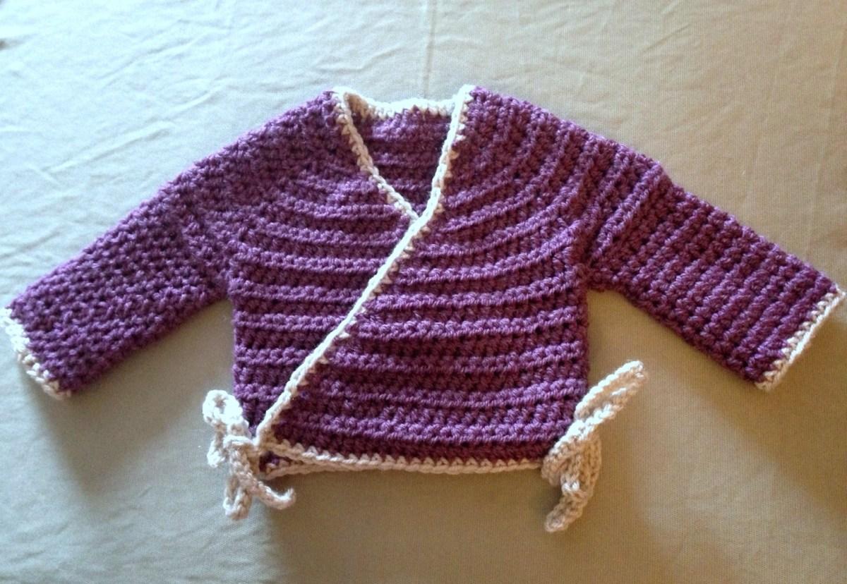 Crochet Baby Sweater Patterns Ba Kimono Free Pattern Life Learning Mama