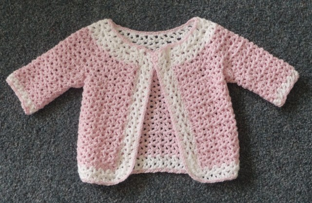Crochet Baby Sweater Patterns V Stitch Cardigan Knitting And Crochet For Babieschildren