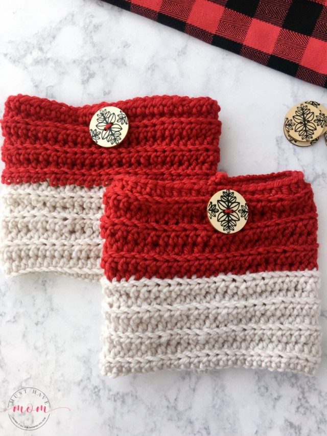 Crochet Boot Cuff Patterns Easy Reversible Crochet Boot Cuffs Free Pattern Must Have Mom