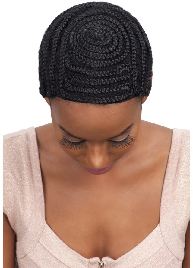 Crochet Braid Pattern Model Model Protectif Style Braided Cap Full Bang Pattern For