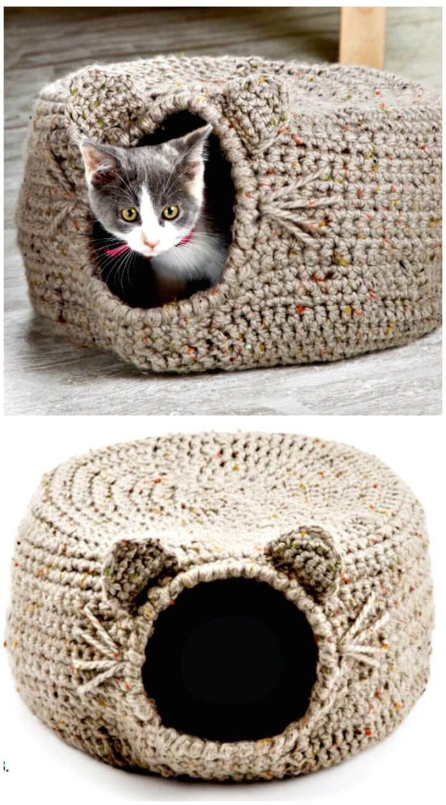Crochet Cat Bed Pattern Free 20 Free Crochet Cat Bed House Patterns Diy Crafts Free