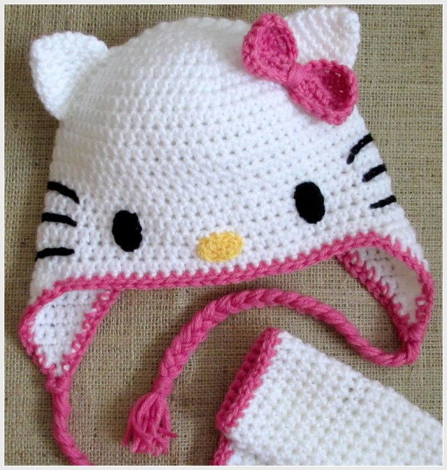 Crochet Cat Hat Pattern Hoffee And A Nuffin Hello Kitty Cat Ears Tutorial