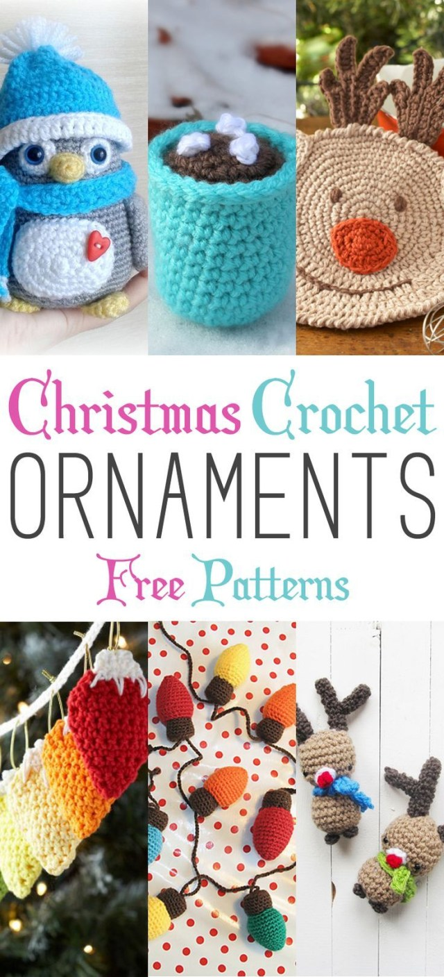 Crochet Christmas Ornament Patterns Christmas Crochet Ornaments With Free Patterns