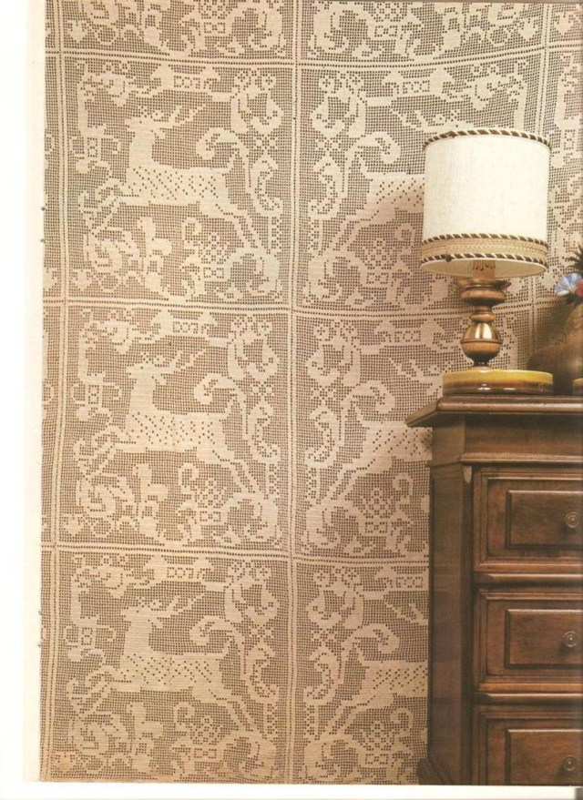 Crochet Curtain Patterns Crochet Curtain Pattern Crochet Patterns Filet Crochet Etsy