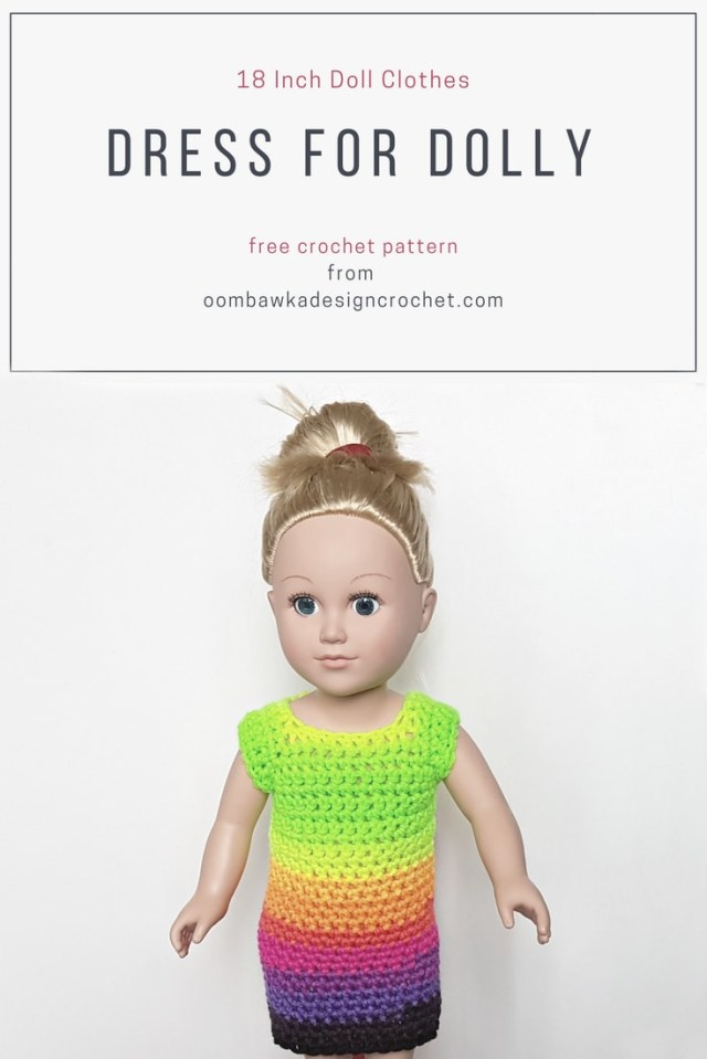 Crochet Doll Clothes Patterns 18 Inch Doll Clothes Dress Pattern For Dolly Oombawka Design Crochet