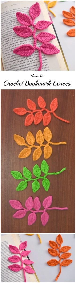 Crochet Leaf Pattern Video Crochet Beautiful Bookmark Leaves Pretty Ideas