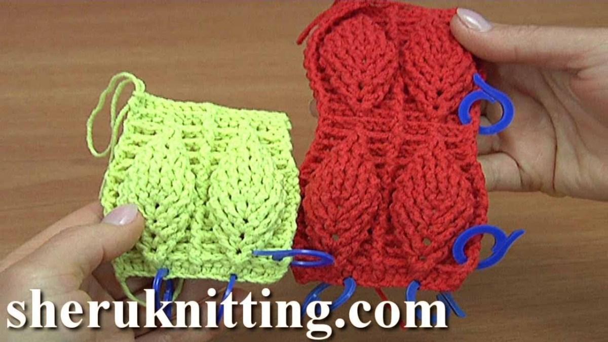 Crochet Leaf Pattern Video Crochet Leaf Stitch Pattern Tutorial 5 Youtube