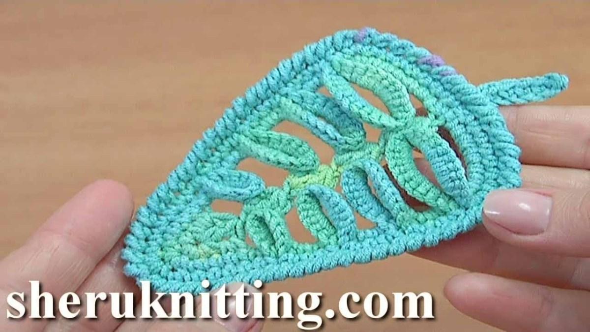 Crochet Leaf Pattern Video How To Make Crochet 3d Leaf Tutorial 46 Crochet Pinterest