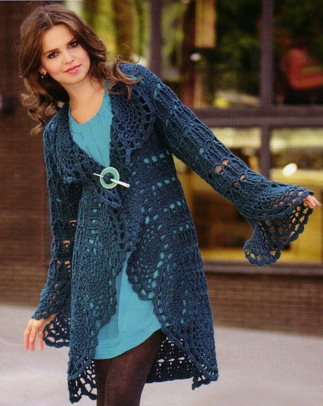 Crochet Long Cardigan Pattern Crochet Cardigan Pattern Casual Cardigan Pattern Warm Crochet Coat