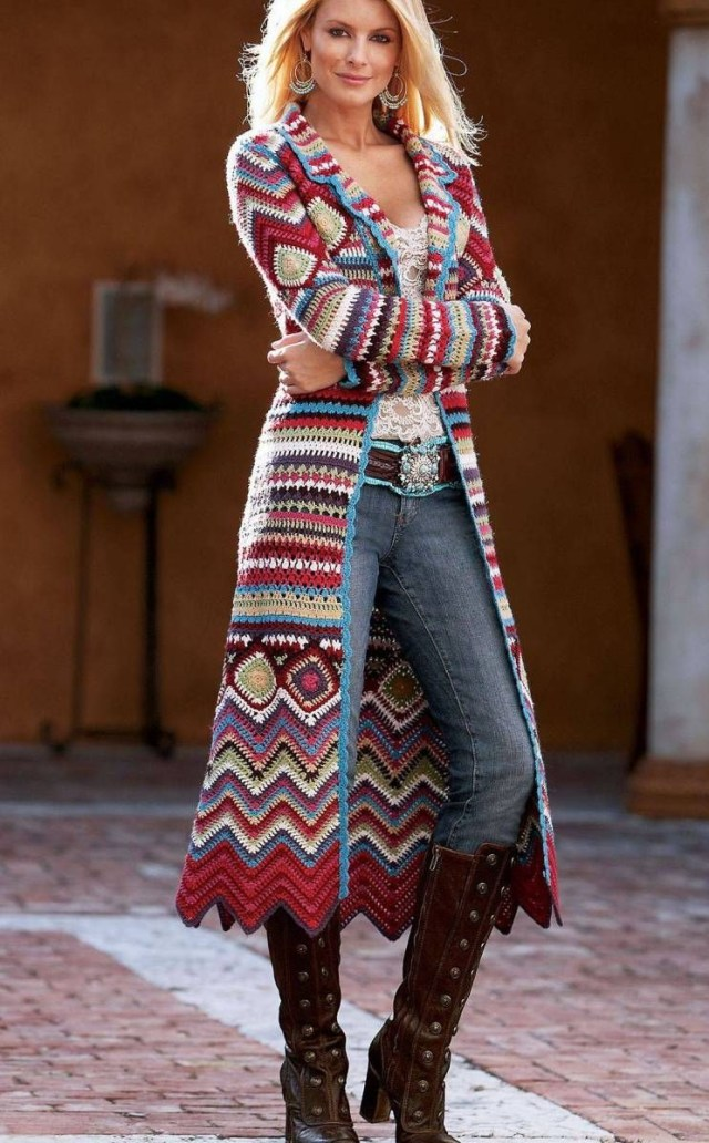 Crochet Long Cardigan Pattern Crochet Coat Free Pattern Poncho Villa Jackets Cardigans