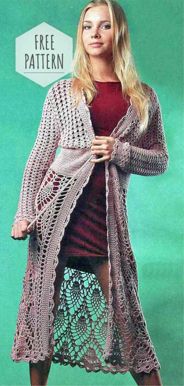 Crochet Long Cardigan Pattern Crochet Long Cardigan Free Pattern