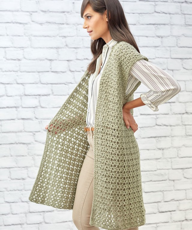 Crochet Long Cardigan Pattern Free Crochet Pattern For Sage Stitch Long Cardigan Crochet Kingdom