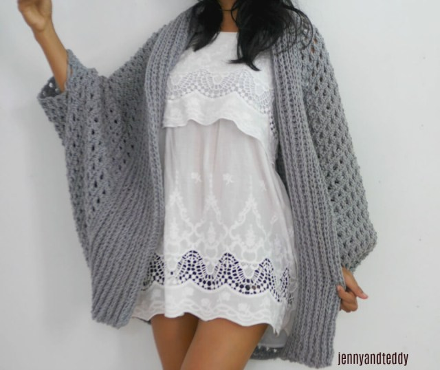 Crochet Long Cardigan Pattern Pretty Me Oversize Chunky Cardigan Free Crochet Pattern