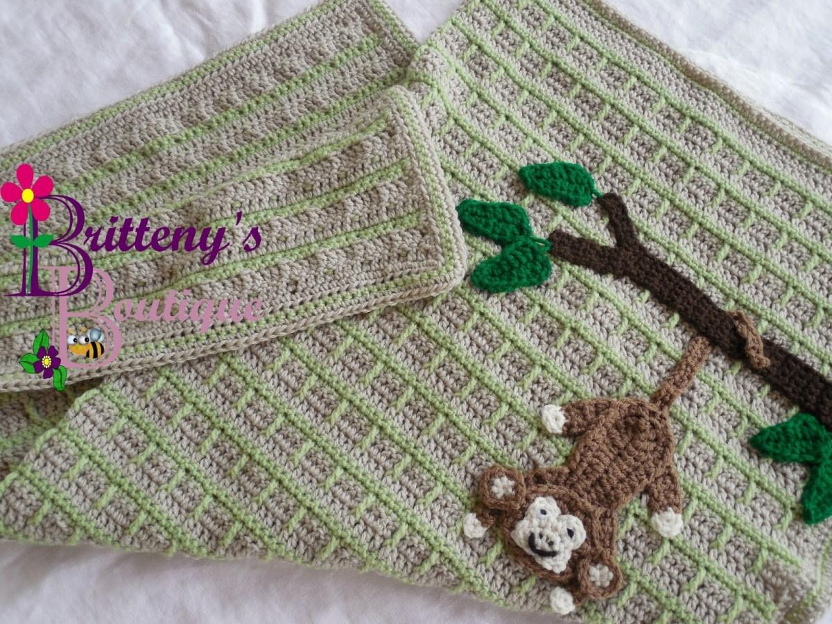 Crochet Monkey Blanket Pattern Britteny Off The Hook Swinging Monkey Ba Blanket Crochet