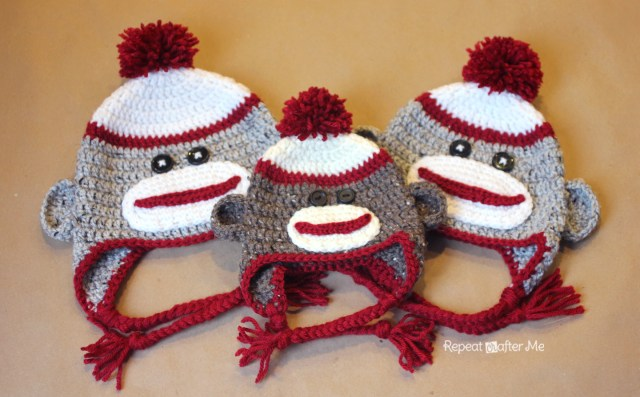 Crochet Monkey Blanket Pattern Crochet Sock Monkey Hat Pattern Repeat Crafter Me