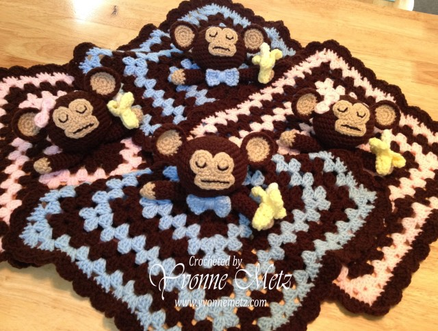 Crochet Monkey Blanket Pattern Whole Lot Of Monkey Business Yvonne Metz