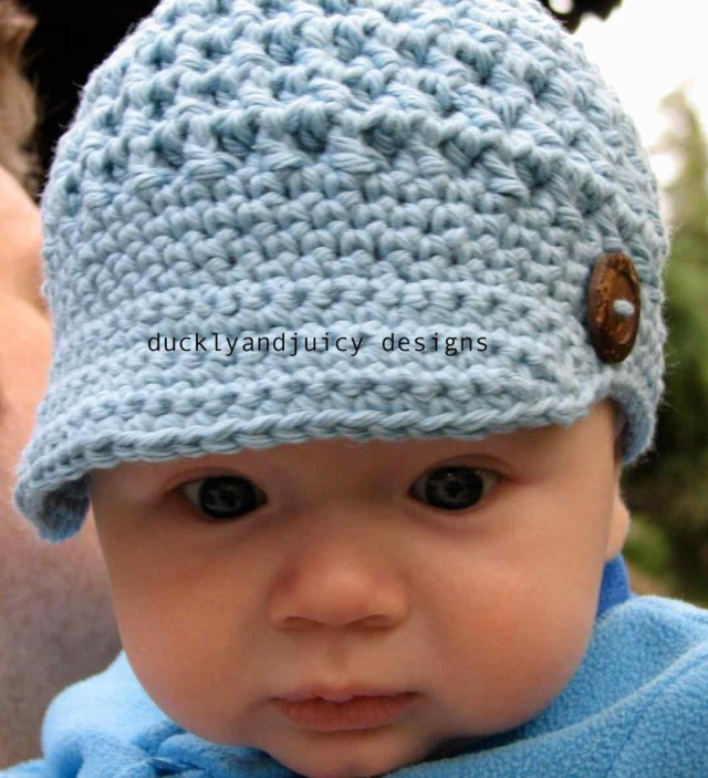 Crochet Newborn Newsboy Hat Pattern Free Crochet Ba Hat Pattern With Brim Uraya