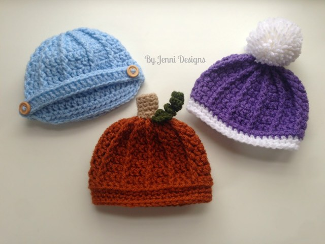 Crochet Newborn Newsboy Hat Pattern Free Jenni Designs Free Crochet Pattern Newborn Ribbed Beanie Or