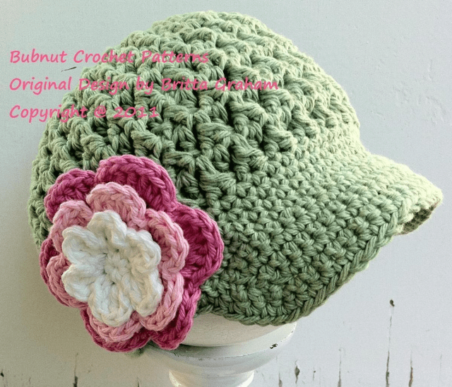 Crochet Newborn Newsboy Hat Pattern Free Textured Newsboy Crochet Hat Bluprint