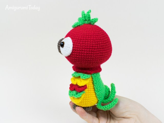 Crochet Parrot Pattern Pedro The Parrot Crochet Pattern Amigurumi Today