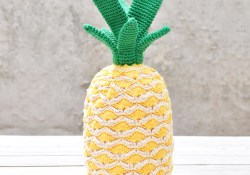 Crochet Pineapple Pattern Crochet A Tropical Pineapple Free Pattern Yarnplaza For