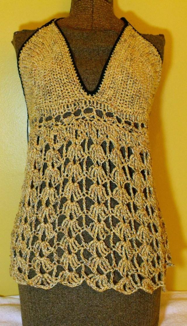 Crochet Vest Top Pattern Fo Crochet Tank Top Design Your Own Custom Yarn Sold The Pound