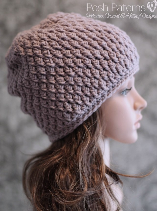 Easy Crochet Slouchy Hat Pattern Slouchy Hat Crochet Pattern Faux Cable Beanie
