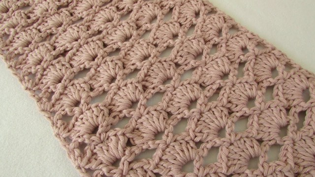 Easy Scarf Crochet Pattern How To Crochet An Easy Lace Scarf For Beginners Youtube