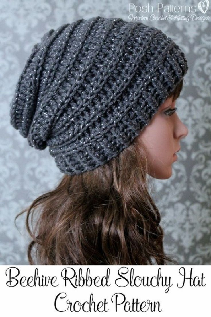 Free Crochet Hat Patterns For Adults Crochet Slouchy Hat Pattern 15 Easy And Free Crochet Patterns To