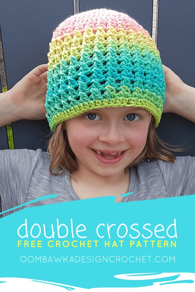 Free Crochet Hat Patterns For Adults Double Crossed Hat Pattern A Free Crochet Pattern In 11 Sizes