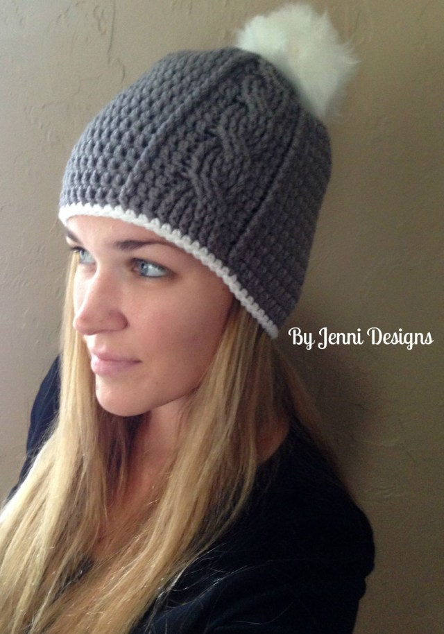 Free Crochet Hat Patterns For Adults Jenni Designs Free Crochet Pattern Womens Vertical Cable