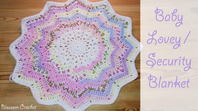 Free Crochet Lovey Pattern Crochet 12 Point Star Ba Lovey Security Blanket Youtube