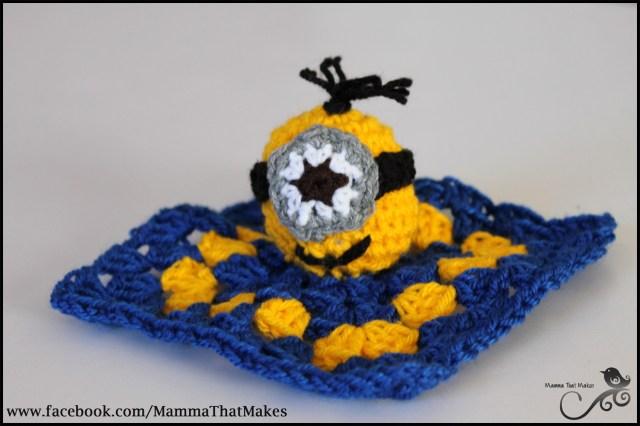 Free Crochet Minion Pattern Mamma That Makes Minion Mini Snug Blanket Free Crochet Pattern