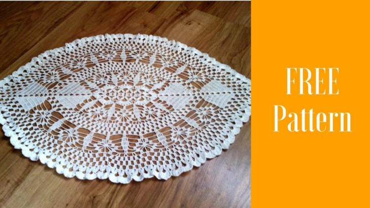 35 Awesome Free Crochet Oval Tablecloth Patterns Crochetnstyle Com